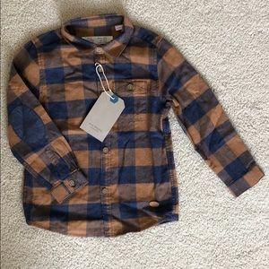 Zara Baby Boys Plaid Flannel Button-Up Shirt